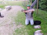 Toller Angeltag 5,6 kg war die Größte der gefangenen Lachsforellen